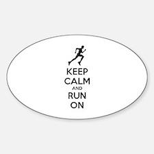 Keep calm and run on Decal