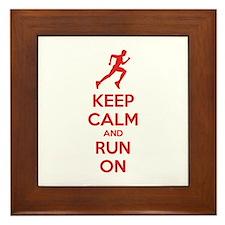 Keep calm and run on Framed Tile