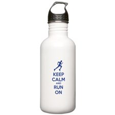 Keep calm and run on Water Bottle