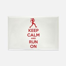 Keep calm and run on Rectangle Magnet