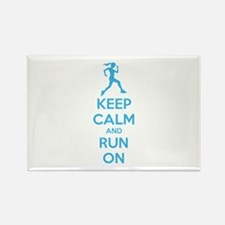 Keep calm and run on Rectangle Magnet (100 pack)