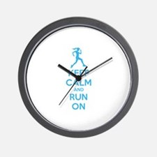 Keep calm and run on Wall Clock