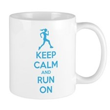 Keep calm and run on Mug