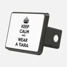 Keep calm and wear a tiara Hitch Cover
