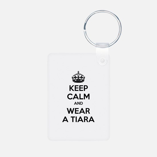 Keep calm and wear a tiara Keychains
