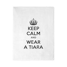 Keep calm and wear a tiara Twin Duvet