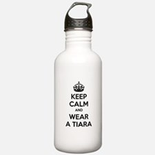 Keep calm and wear a tiara Water Bottle