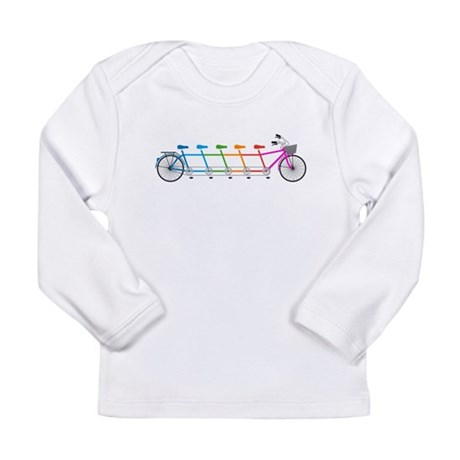 colorful tandem bicycle, team bike Long Sleeve T-S