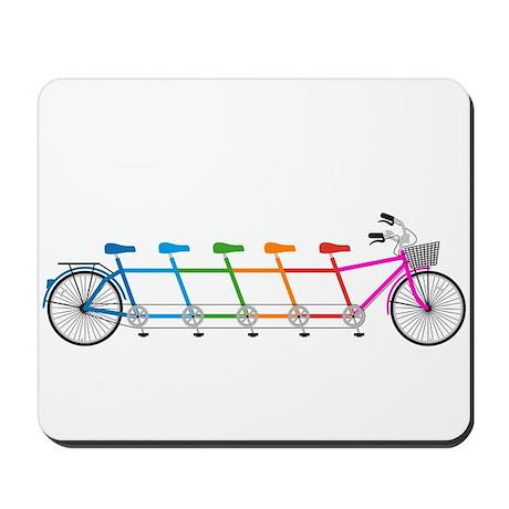 colorful tandem bicycle, team bike Mousepad
