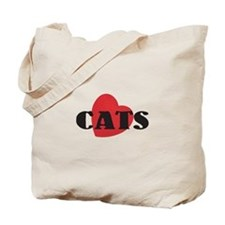 "Classic "" Love Cats"" Tote Bag"