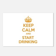 Keep calm and start drinking Postcards (Package of