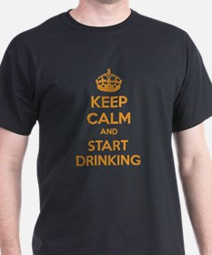 Keep calm and start drinking T-Shirt