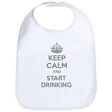 Keep calm and start drinking Bib