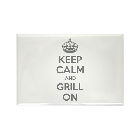 Keep calm and grill on Rectangle Magnet (100 pack)