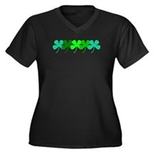 Clovers 5 St. Patricks Plus Size V Neck T-Shirt