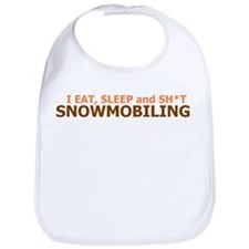 EAT, SLEEP and SH*T SNOWMOBIL Bib