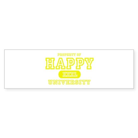 Happy University Bumper Sticker