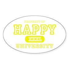 Happy University Oval Decal
