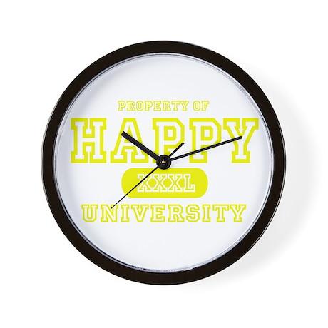 Happy University Wall Clock