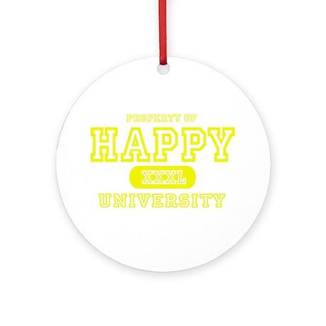 Happy University Ornament (Round)