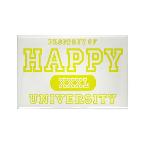 Happy University Rectangle Magnet