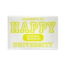 Happy University Rectangle Magnet (10 pack)