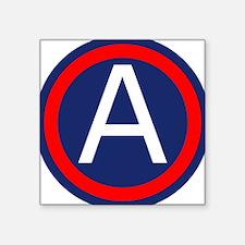 "Third Army logo Square Sticker 3"" x 3"""