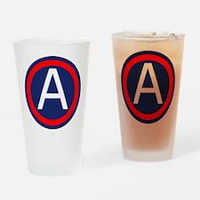 Third Army logo Drinking Glass