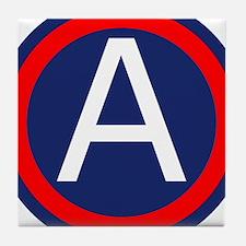 Third Army logo Tile Coaster
