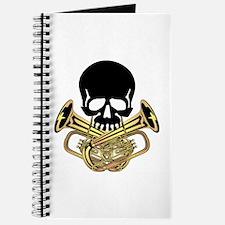Skull with Tuba Crossbones Journal