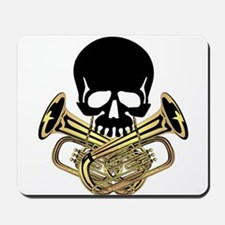 Skull with Tuba Crossbones Mousepad