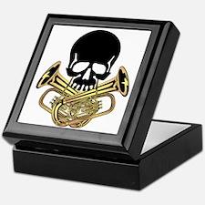 Skull with Tuba Crossbones Keepsake Box