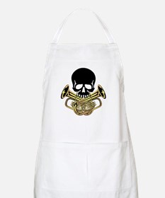 Skull with Tuba Crossbones Apron