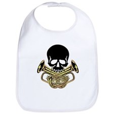 Skull with Tuba Crossbones Bib
