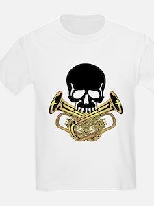 Skull with Tuba Crossbones T-Shirt
