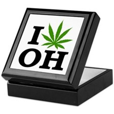 I Love Cannabis Ohio Keepsake Box