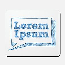lorem ipsum, handwritten text in scribble frame Mo