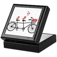 tandem bicycle with cute love birds, vector Keepsa