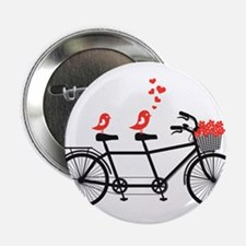 """tandem bicycle with cute love birds, vector 2.25"""""""