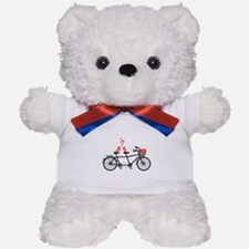 tandem bicycle with cute love birds Teddy Bear