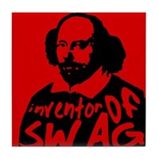 The Inventor of Swag Tile Coaster