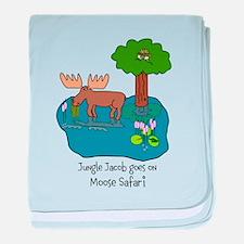 Moose Safari baby blanket