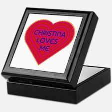 Christina Loves Me Keepsake Box