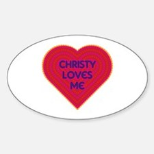 Christy Loves Me Decal