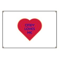 Cindy Loves Me Banner