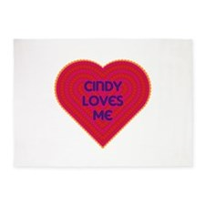 Cindy Loves Me 5'x7'Area Rug