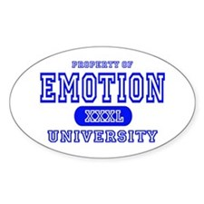 Emotion University Oval Decal