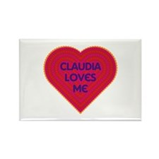 Claudia Loves Me Rectangle Magnet