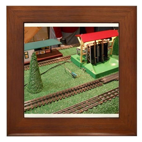 Log Logger For Trains Framed Tile