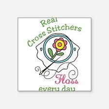 Real Cross Stitchers Sticker
